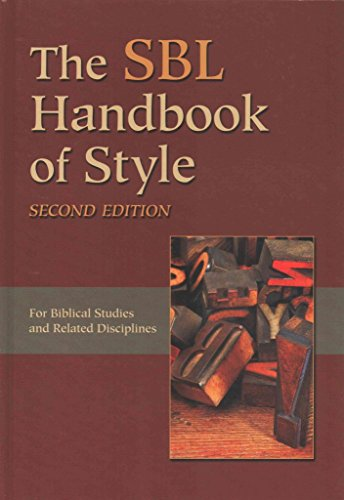 [(The Sbl Handbook of Style)] [By (author) Society of Biblical Liter] published on (November, 2014)