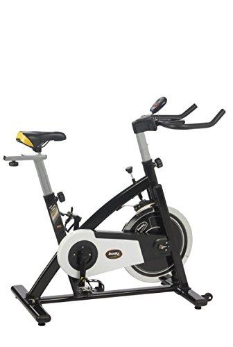 Body Coach Racing Bike Pro-X 13 28143 Indoor-Cyle mit 13 kg Schwungrad Höhenverstellbaren Rennlenker mit Armauflagen und Training-Computer, belastbar bis 125 kg