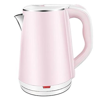 Bouilloire électrique en acier inoxydable rose Dortoir automatique Bouilloire électrique à domicile (taille: 22 * ??15.5cm)