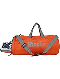 WINSTAR Unisex Polyester Duffle Gym Bag with Ventilated Shoes Compartment  (Orange) 2a9be9285643f