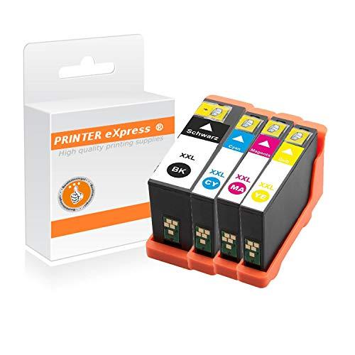 Printer-Express XL Patronen 4er Set ersetzt Dell 31, 32, 33, 34 Kartusche für Dell V525 V725 / V525W V725W Drucker mit Chip (V525 Dell)