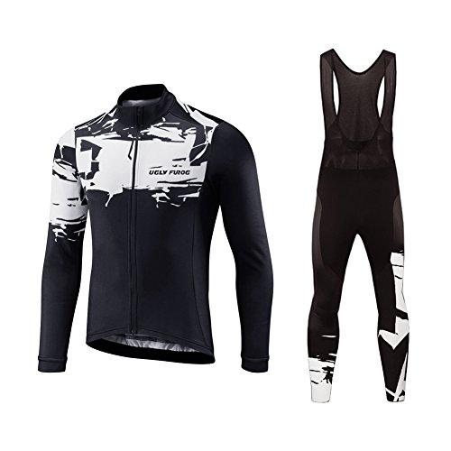 Uglyfrog #19 2017 uomo ciclismo magliette maglia da ciclismo a maniche lunghe moda colorata primavera del manicotto lungo jersey+lunga pantaloni da ciclismo set primavera style