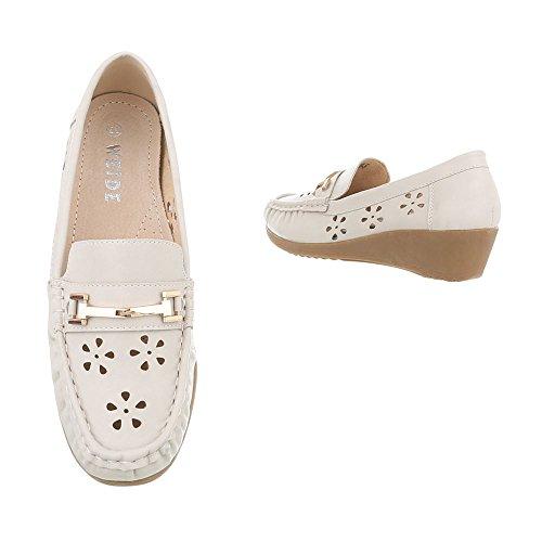 Plat Mocassins Femmes Beige Chaussures D16085 Italdesign I41wxBB