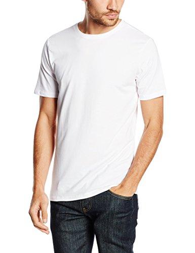 New Look Herren T-Shirt Cotton Elastane Weiß - Weiß