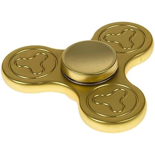 fidget spinner el nuevo juguete de moda TriBar Hand Spinner aleación de Zinc. Rodamiento cerámico Si3N4 alta velocidad. Duración extralarga, más de 4 Min. (GOLD)