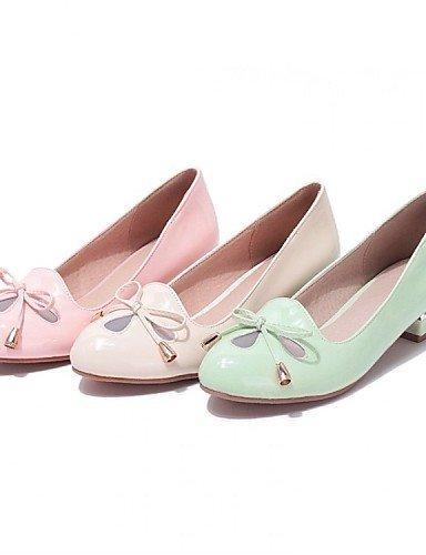 ShangYi Scarpe Donna - Mocassini - Ufficio e lavoro / Formale / Casual - Tacchi - Basso - Vernice - Verde / Rosa / Beige Pink