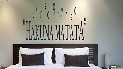 Hakuna Matata Vinile Frase Adesivo Artistico Parete - 4 formati & 16 colori - bed16 - 4 - X Large 100 x 60 cm
