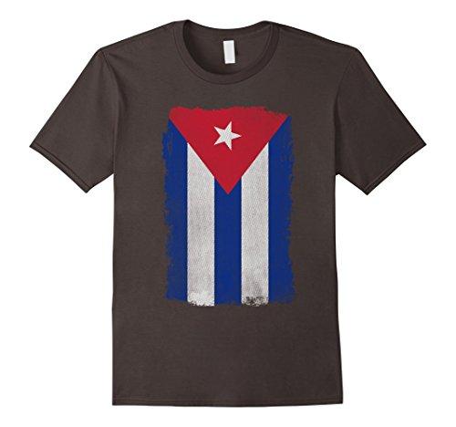 Big Texas Weathered Flag of Cuba T-Shirt-Herren, Größe 2XL-Asphalt Preisvergleich