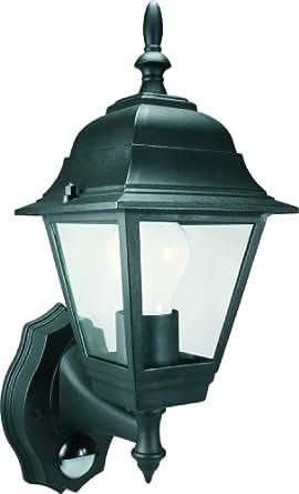 ELRO BYRES94 4-Panel Wall Lantern with PIR Motion Detector, 100 W, Black