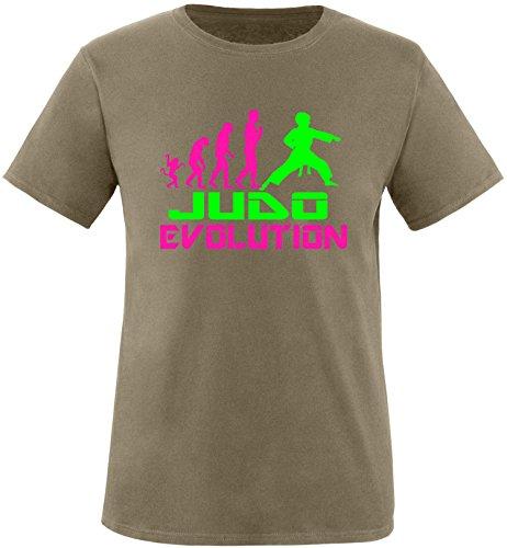EZYshirt® Judo Evolution Herren Rundhals T-Shirt Olive/Pink/Neongr