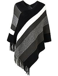 Ferand Poncho de las mujeres suéter de punto de Diseño Envolvente ... 1096de74b2d4