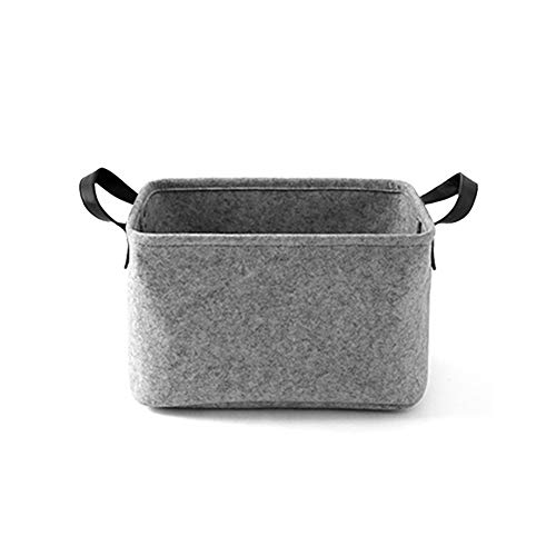 Felt Basket Storage Box with Handle Soft Durable Foldable Storage Bin Basket Laundry Hamper Toy Storage Organizer Bins Home Decorations (Toy Storage Bin)