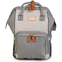 Motherly Stylish Babies Diaper Bags for Mothers (Dark Gray,Ivory)