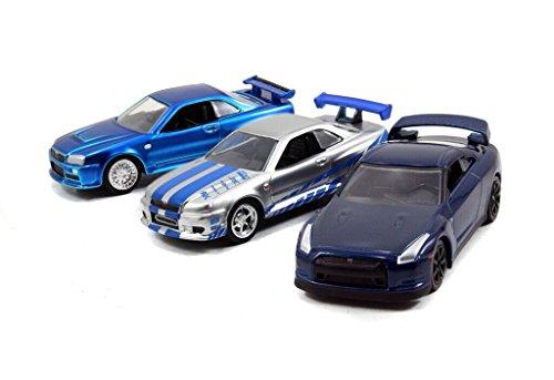 jada-toys-fast-furious-155-diecast-asst-nissan-gtr-nissan-skyline-gtr-slv-vehicle-3-pack-blue