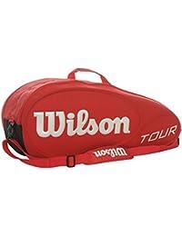 Wilson Unisex Hombres Mujeres Accesorio Entrenamiento De Deportes Equipment Tour 6 Funda De Raqueta - Rojo