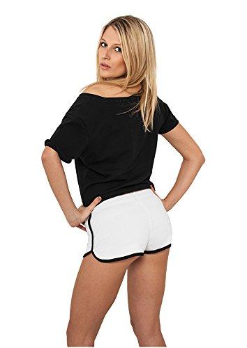 Urban Classics Damen Short Ladies French Terry Hotpants wht/blk
