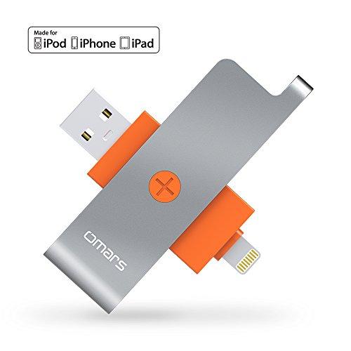 [Apple MFI certificado] lector de tarjetas SD con conector Lightning,