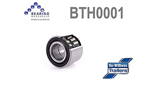 BTH0001 Ifor Williams Roulement de roue de remorque 1996 et sur 35 x 75 x 60 mm BTH 0001
