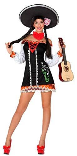 Fancy Me Damen Mexikanisches Senorita-Kostüm, internationales Karnevalsfeier, Halloween, Junggesellinnenabschied, Kostüm, Outfit, Größe 36-46