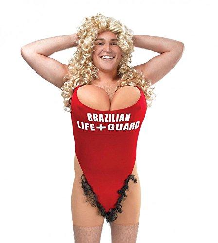 Lustiges Herren-Kostüm - Hairy Mary - Gr. M/L Baywatch Rettungsschwimmer (Rettungsschwimmer Badeanzug Kostüm)