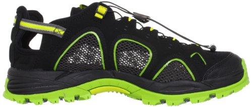 Salomon Techamphibian 3 Herren Sport & Outdoor Sandalen Schwarz (Black/Organic Green/Mimosa Yellow)