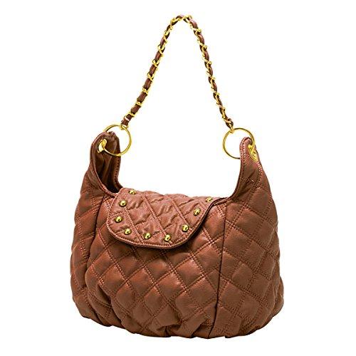 ADEFG Damen Diamant Tasche Mode Schultertasche,Orange-OneSize
