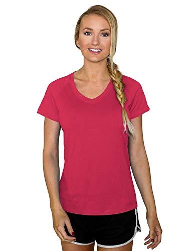 WoolX Mia Tee T-Shirt aus Merinowolle für Damen, leicht, leitet Feuchtigkeit ab und ist geruchsabweisend, Damen, Mia, Pink, Flamingo, XX-Large -