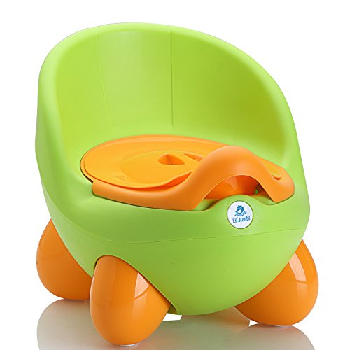 Lil' Jumbl Potty Training Eggie | Kids Toilet Chair Choice (Green)