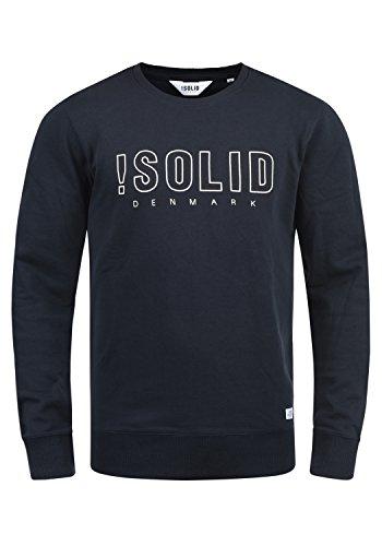 !Solid Kian Herren Sweatshirt Pullover Pulli Mit Rundhalsausschnitt, Größe:XL, Farbe:Insignia Blue (1991) -