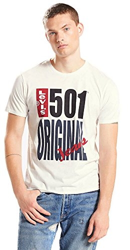 Levi'sâ®501 graphic tee - t-shirt con stampa - original white