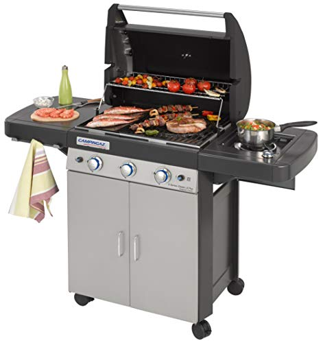 Campingaz 3 Series Classic LS Plus Barbecue a Gas, Nero/Argento, 144 x 66 x 147 cm