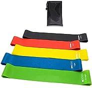 Set 5 Bandas elasticas Fitness/ Bandas de Resistencia y musculación Latex Natural