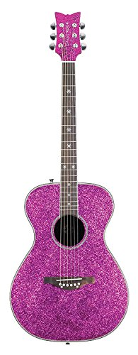 Daisy Rock dr6205-a-u Pixie – Guitarra acústica, color rosa brillante