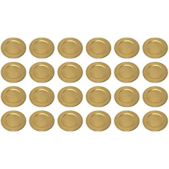 Platzteller dekoteller 6 st ck 33 cm gold kunststoff k che haushalt - Dekoteller gold ...