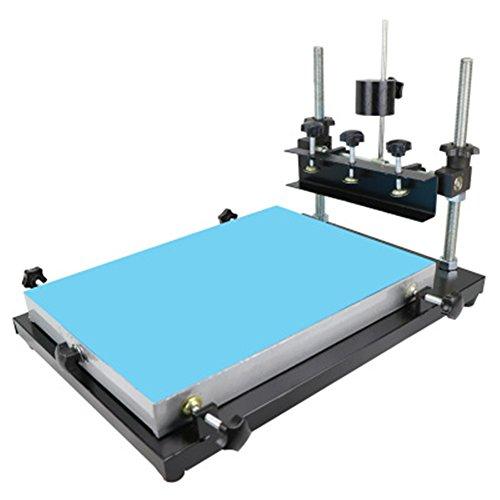 cgoldenwall Siebdruck Tisch Manuelle SMT Lötpaste Tisch Bildschirm Drucker drucken Maschine für Bildschirm Druck Aluminium Krone Printing area :240 * 300mm Siebdruck Drucker