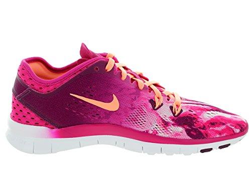 NikeFree 5.0 Tr Fit 5 Prt - Scarpe da corsa Donna Rosa (Pink (fireberry/sunset glow-mlbrry-black))