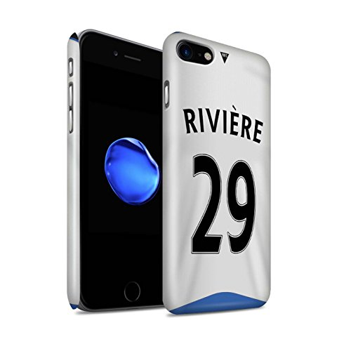 Offiziell Newcastle United FC Hülle / Glanz Snap-On Case für Apple iPhone 7 / Pack 29pcs Muster / NUFC Trikot Home 15/16 Kollektion Rivière