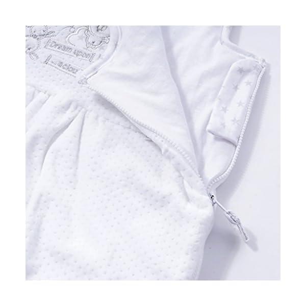 Saco de Dormir Bebe 0-3 Meses – Recién Nacido Saco de Dormir 2.5 Tog Lindo Manta de Bebé Sin Mangas,Blanco
