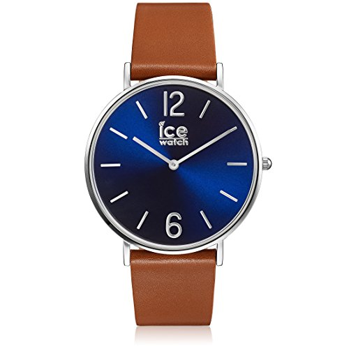 Ice-Watch - CITY tanner Caramel Blue - Montre marron mixte avec bracelet en cuir - 001520 (Medium)