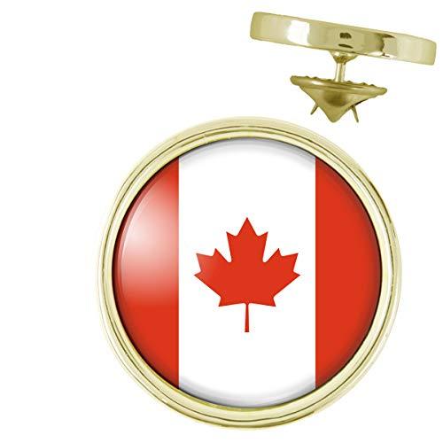 Pin's Doré 20mm Drapeau Canada Flag Feuille Erable Emblème