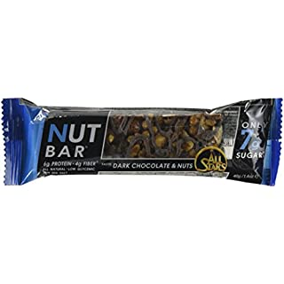 All Stars Nut Bar, Dark Chocolate and Nuts, 40 g, Pack of 24
