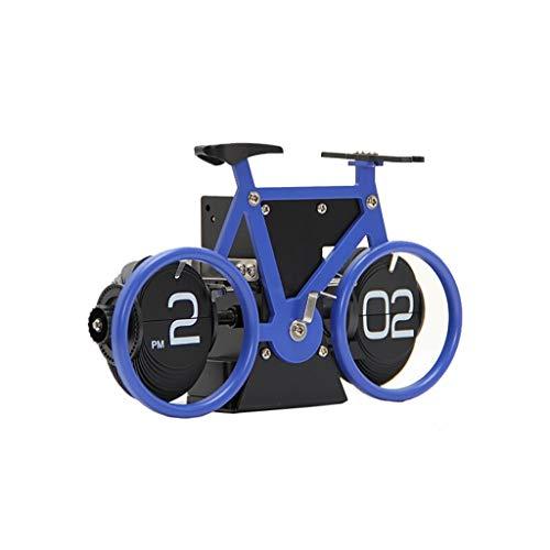 Nosterappou La bicicletta gira automaticamente l'orologio della pagina, nessun ticchettio, nuova moda muta, la personalità per la decorazione della casa può essere utilizzata per i tempi, stile di des