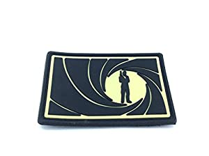 James Bond 007 Cosplay PVC Airsoft Fan Patch