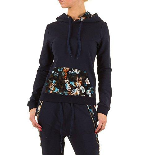 Kapuzen Sweatshirt Für Damen bei Ital-Design Schwarz