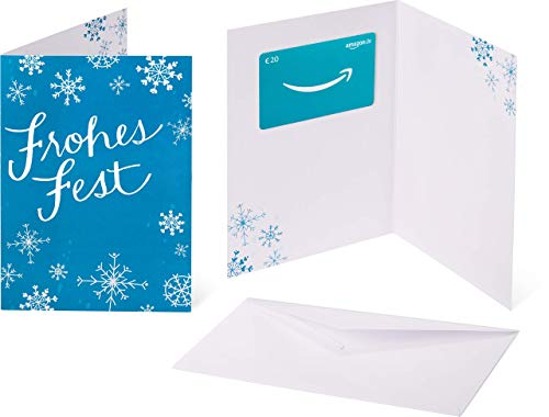Amazon.de Geschenkkarte in Grußkarte - 20 EUR (Weihnachtliche Schneeflocken)