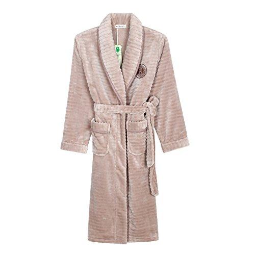 Camicia da notte di flanella spessa Ms in autunno e in inverno/ coral fleece pigiama/ servizio di casa accappatoio yukata A