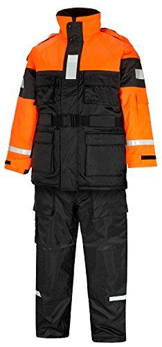 Schwimmanzug Angler Overall Floatingsuit Schwarz Orange M