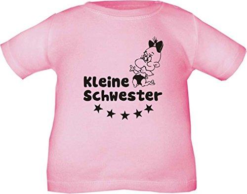 Kinder T-Shirt Kleine Schwester / Größe 60 - 164 in 5 Farben Rosa