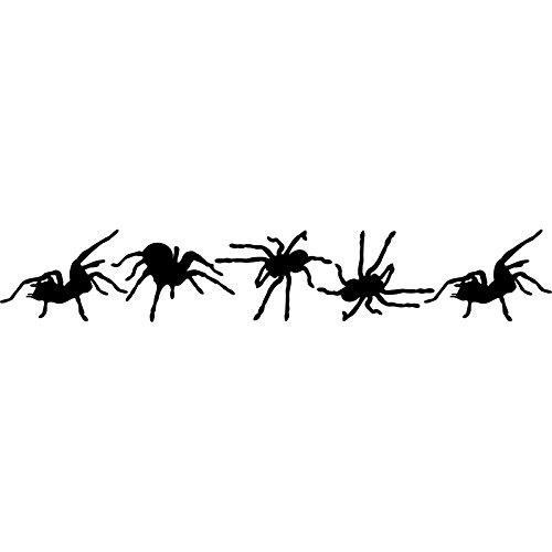Scary Fancy Set von 5verschiedenen kriechen Spinnen Halloween (10cm x 60cm) wählen Sie Farbe 18Farben auf Lager Badezimmer, Childs Schlafzimmer, Kinder Zimmer Aufkleber, Auto Vinyl-, Windows und Wandtattoo, Wall Windows (Halloween Farbe Kontakte)