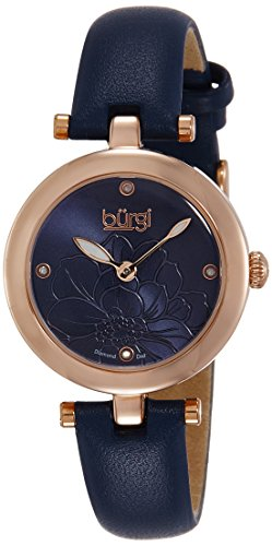 burgi-womens-diamond-quartz-watch-with-flower-accented-blue-dial-and-blue-leather-strap-bur128bu